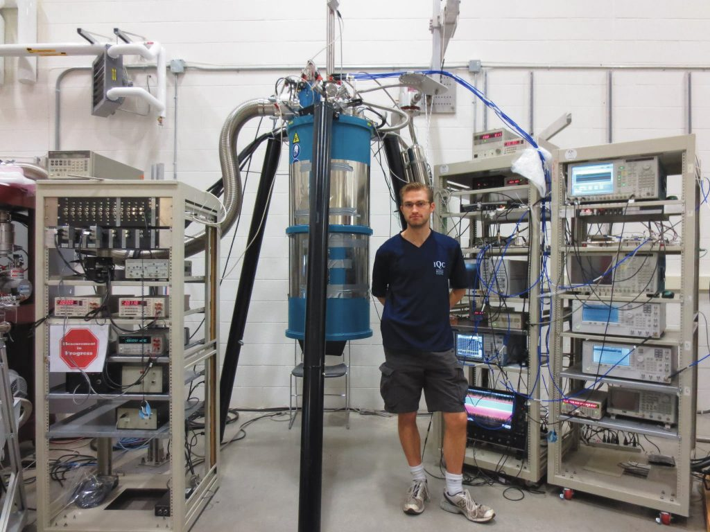 What it takes to run a superconducting quantum computer. This is the system I worked with at IQC.